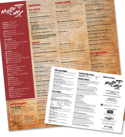 Bar/Restaurant Menu